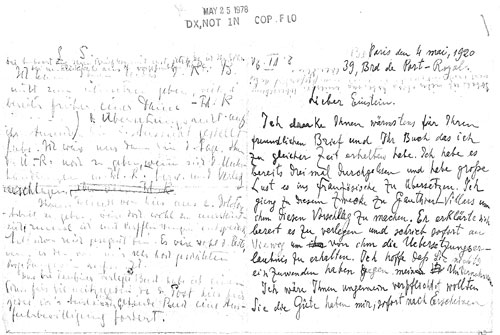 Einstein Handwriting